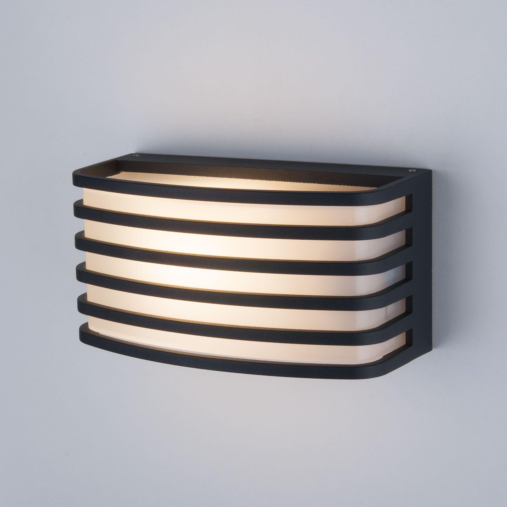 Уличный настенный светильник 1409 TECHNO чёрный