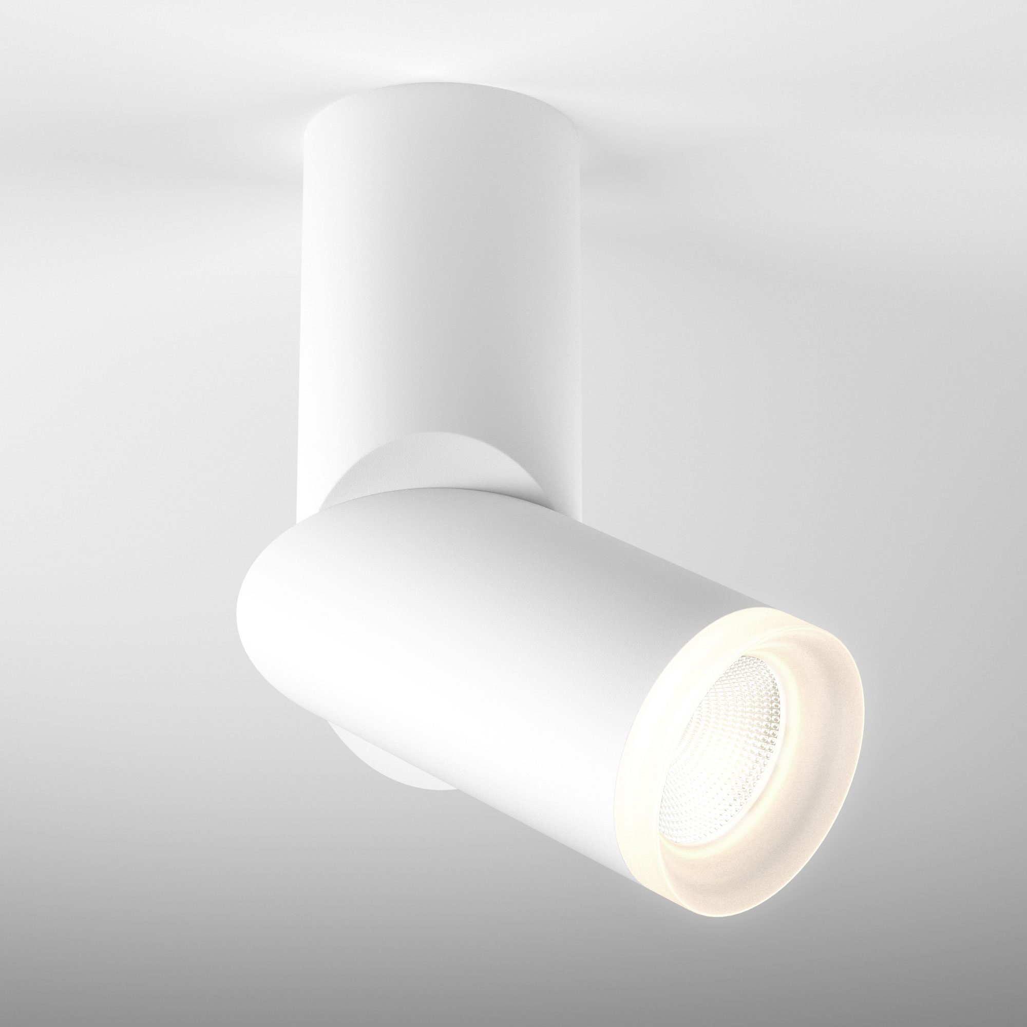 Накладной светодиодный светильник DLR036 12W 4200K белый матовый