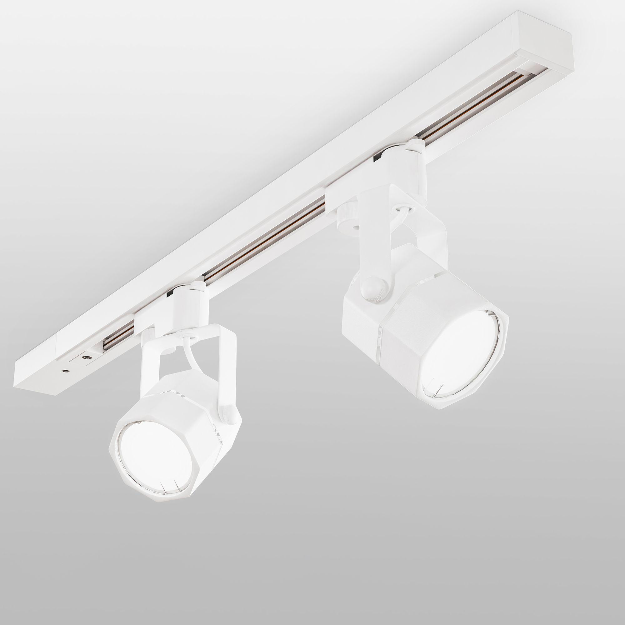 Трековый светильник для однофазного шинопровода Robi GU10 Белый MRL 1004