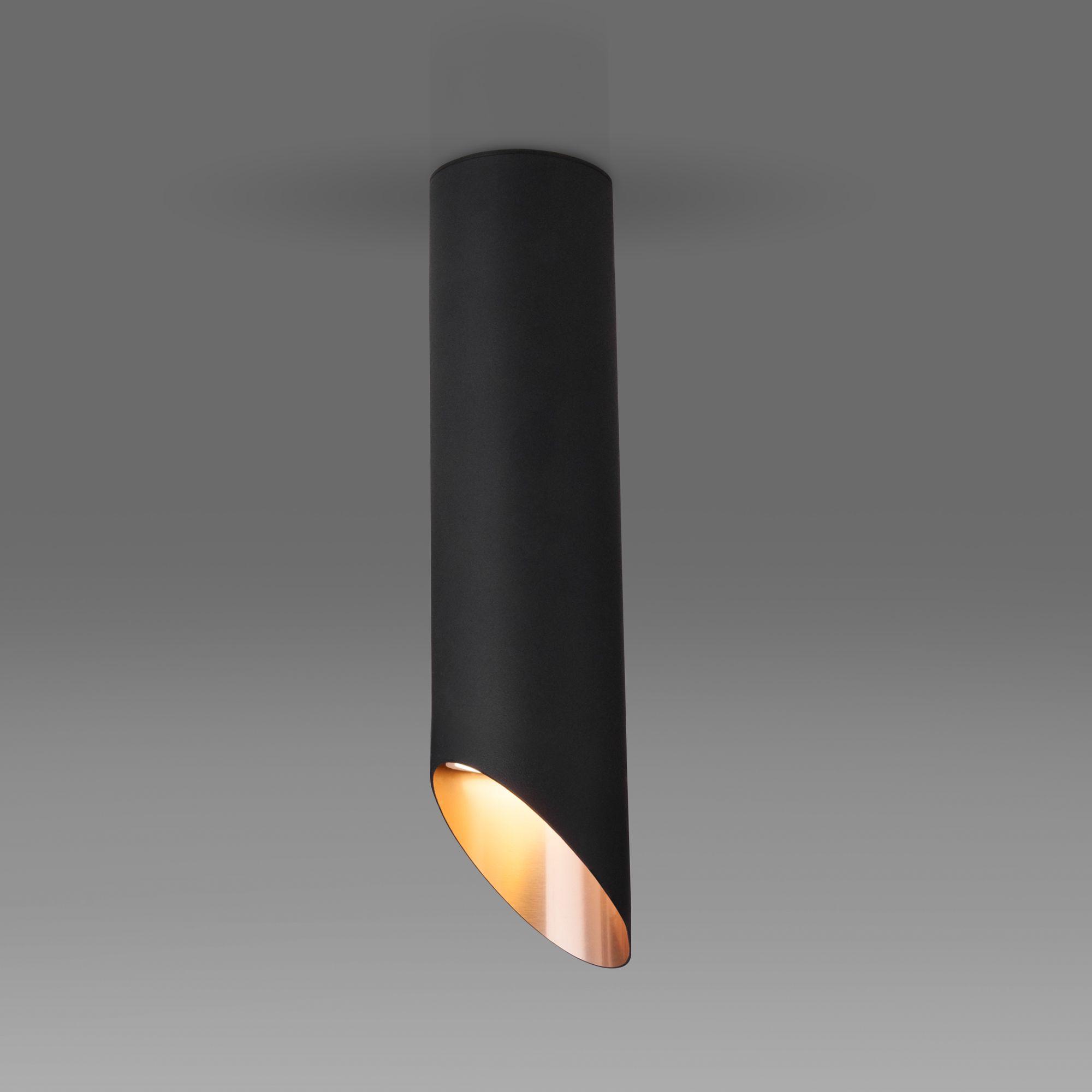 Накладной акцентный светильник DLN115 GU10 черный/золото