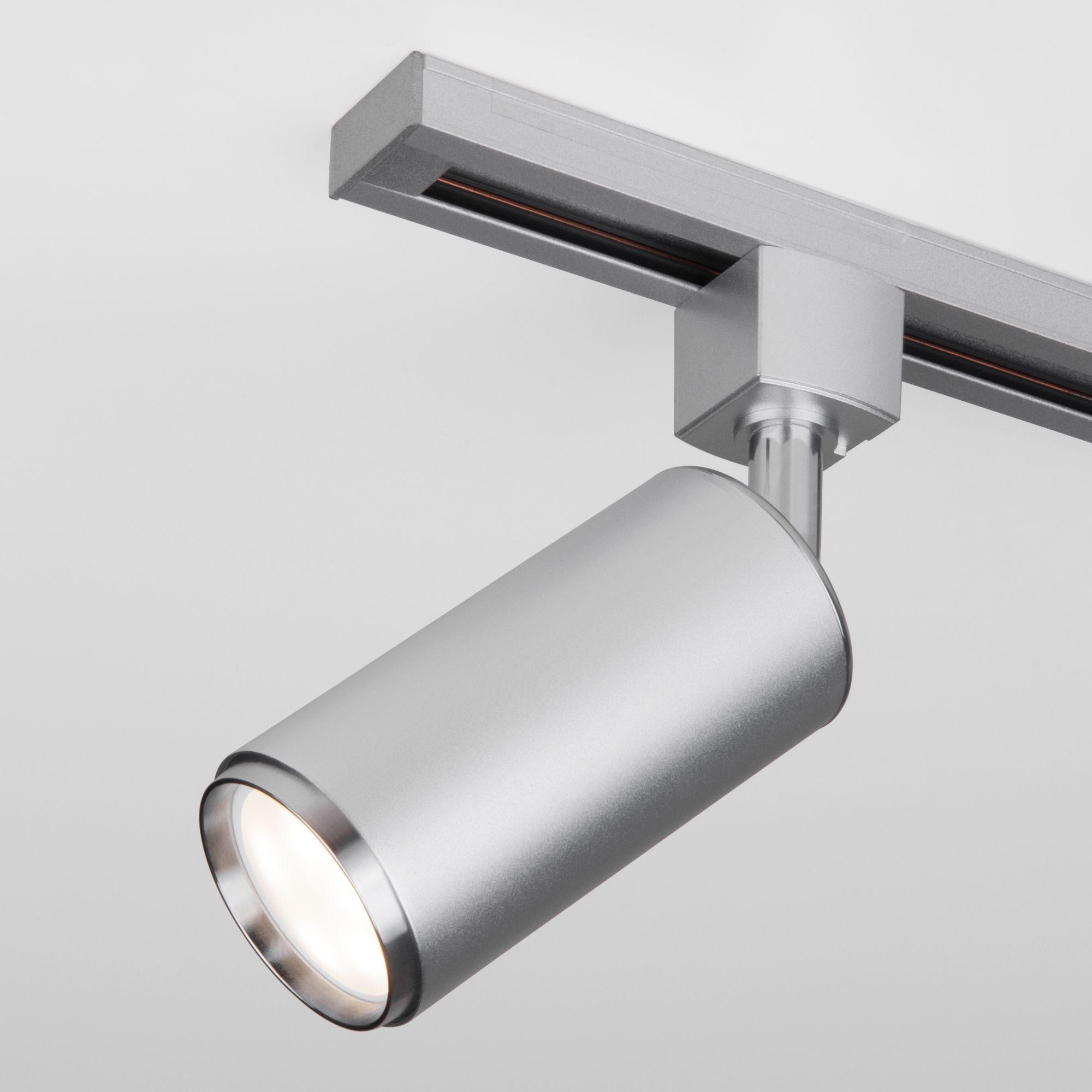 Трековый светильник для однофазного шинопровода Svit GU10 хром матовый MRL 1013