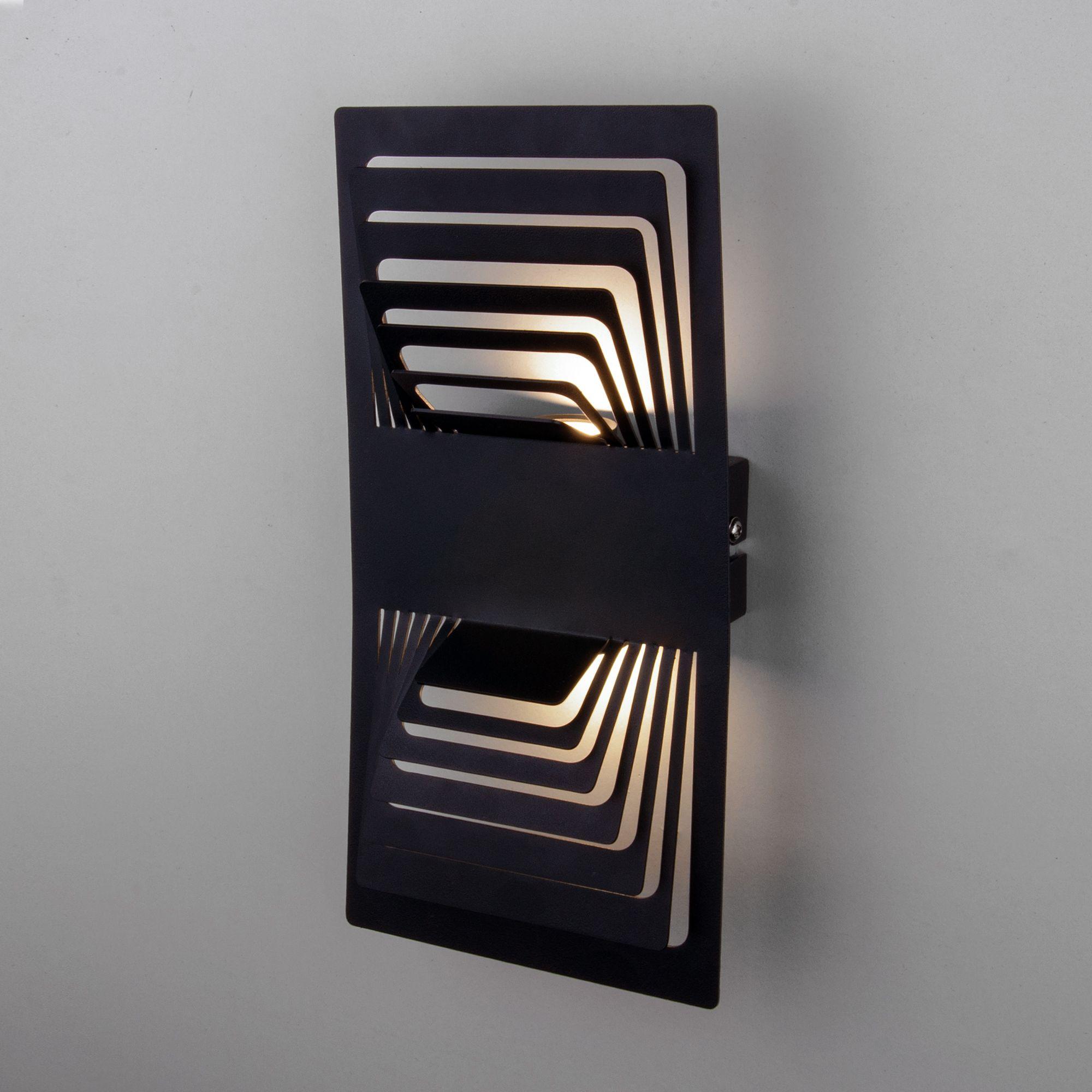 Настенный светодиодный светильник Onda LED MRL LED 1025 чёрный
