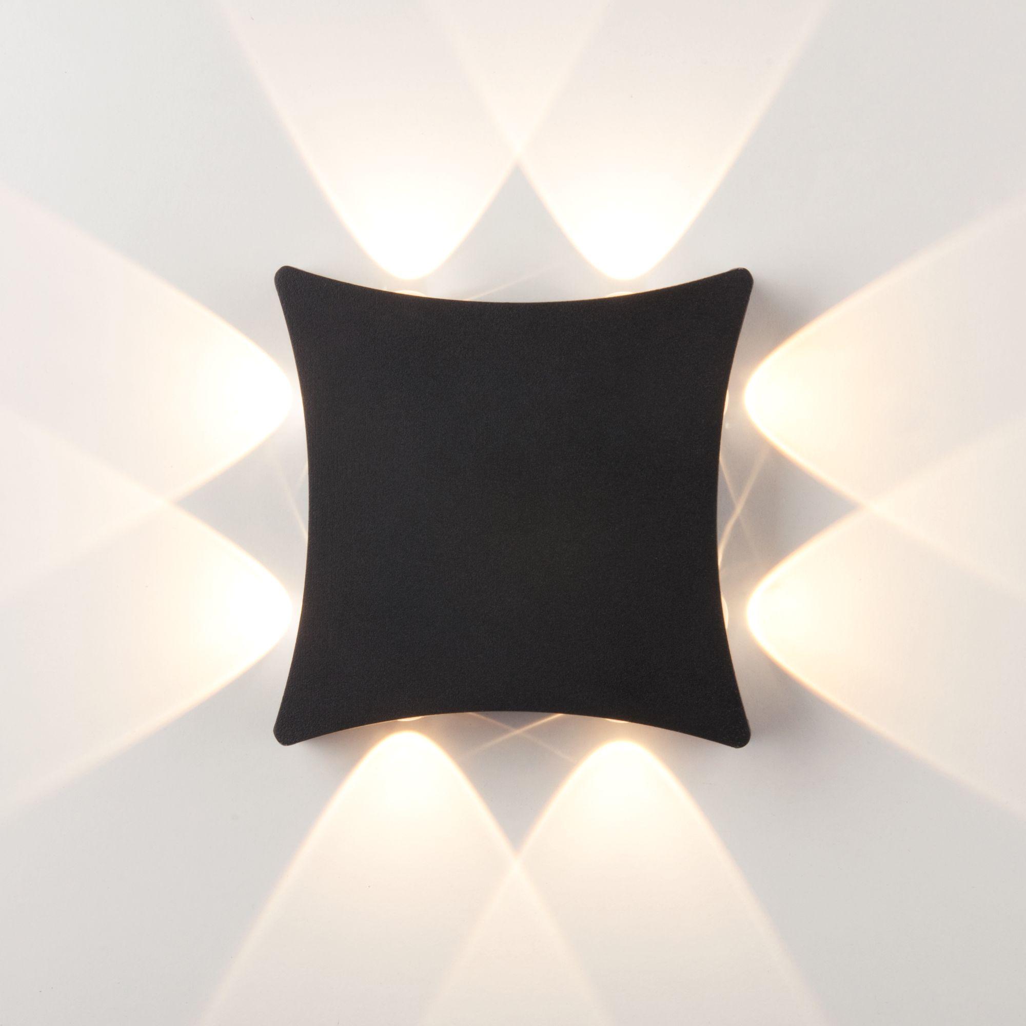 Уличный настенный светодиодный светильник 1631 TECHNO LED чёрный 1631 TECHNO LED чёрный
