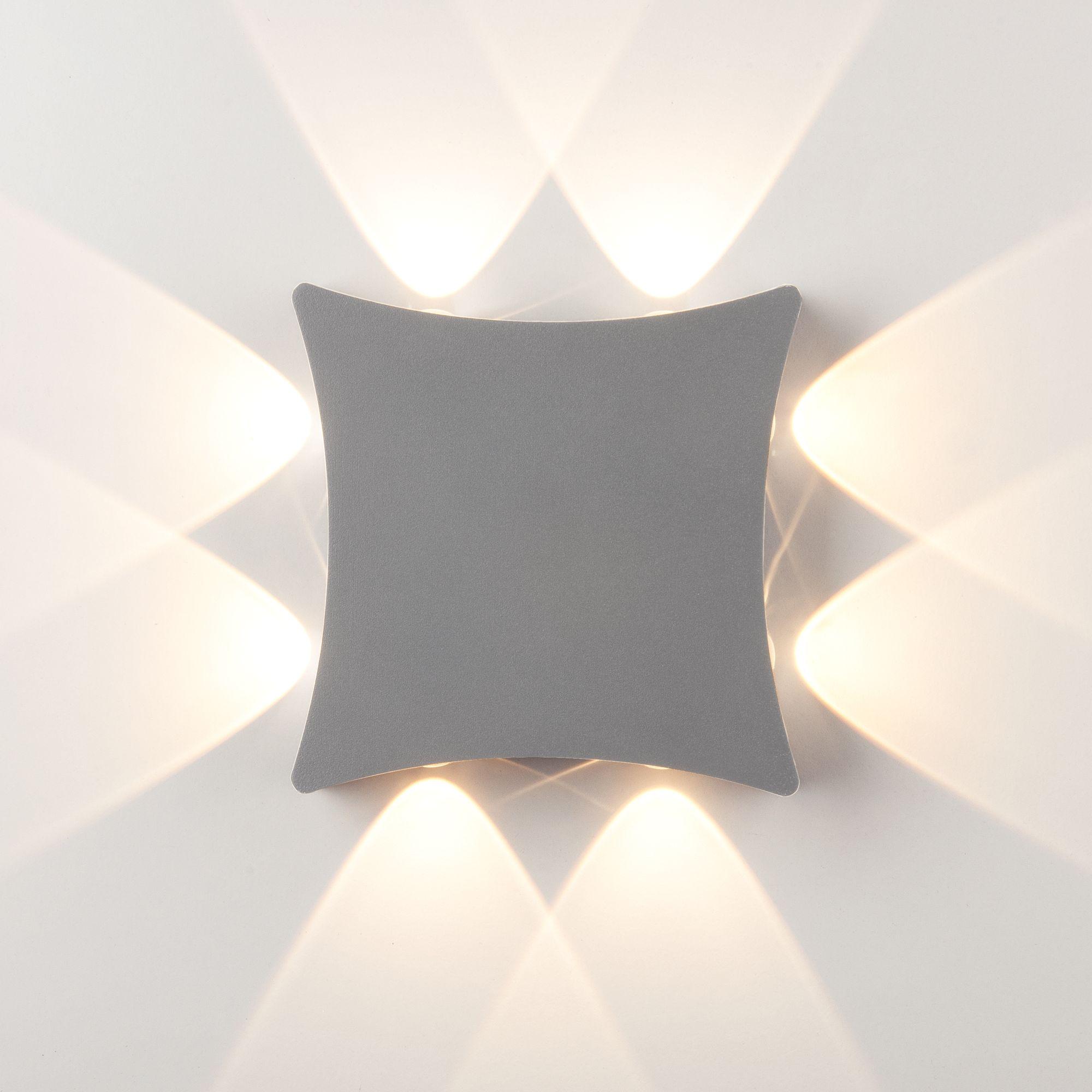 Уличный настенный светодиодный светильник 1631 TECHNO LED серый 1631 TECHNO LED серый
