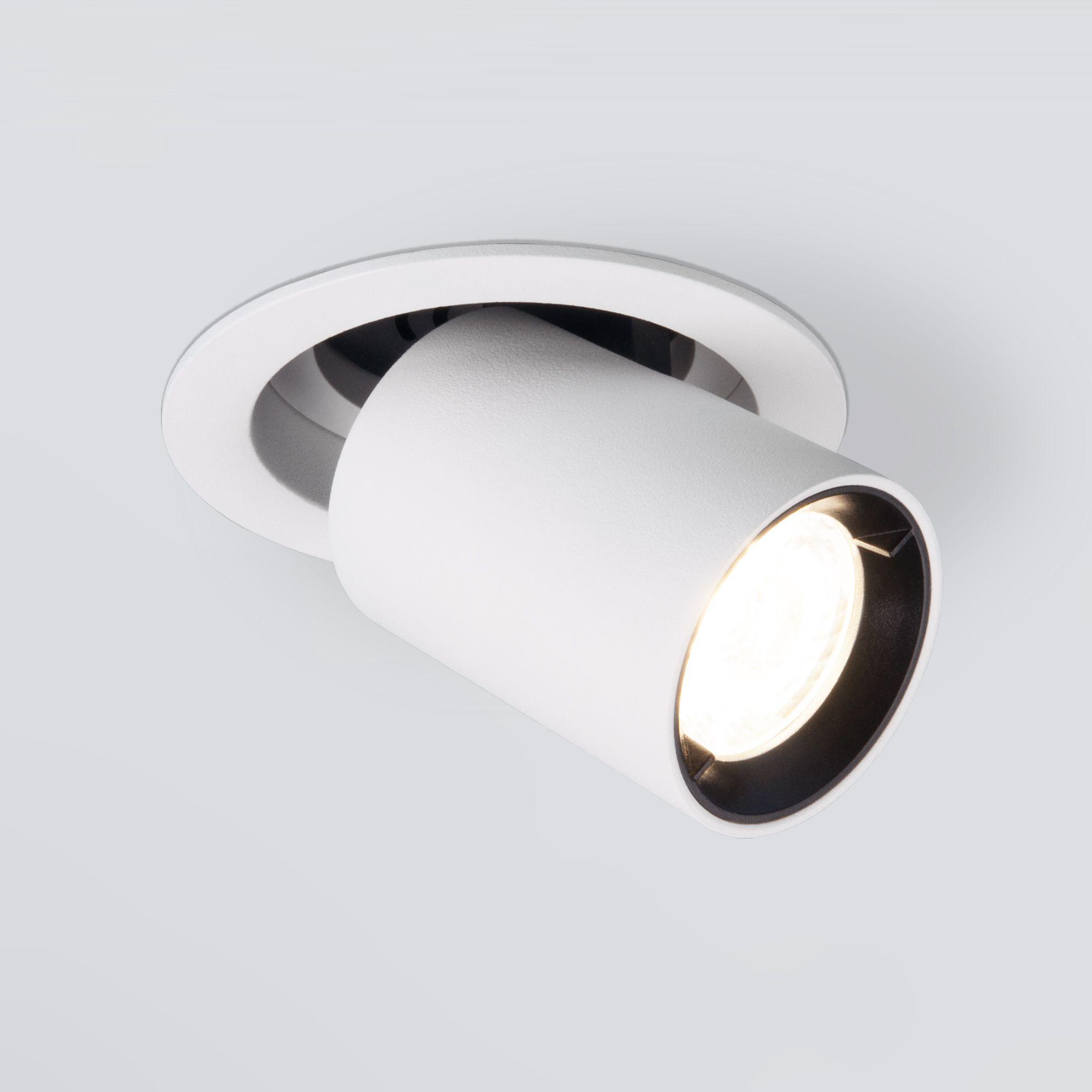 Встраиваемый точечный светодиодный светильник 9917 LED 10W 4200K белый матовый
