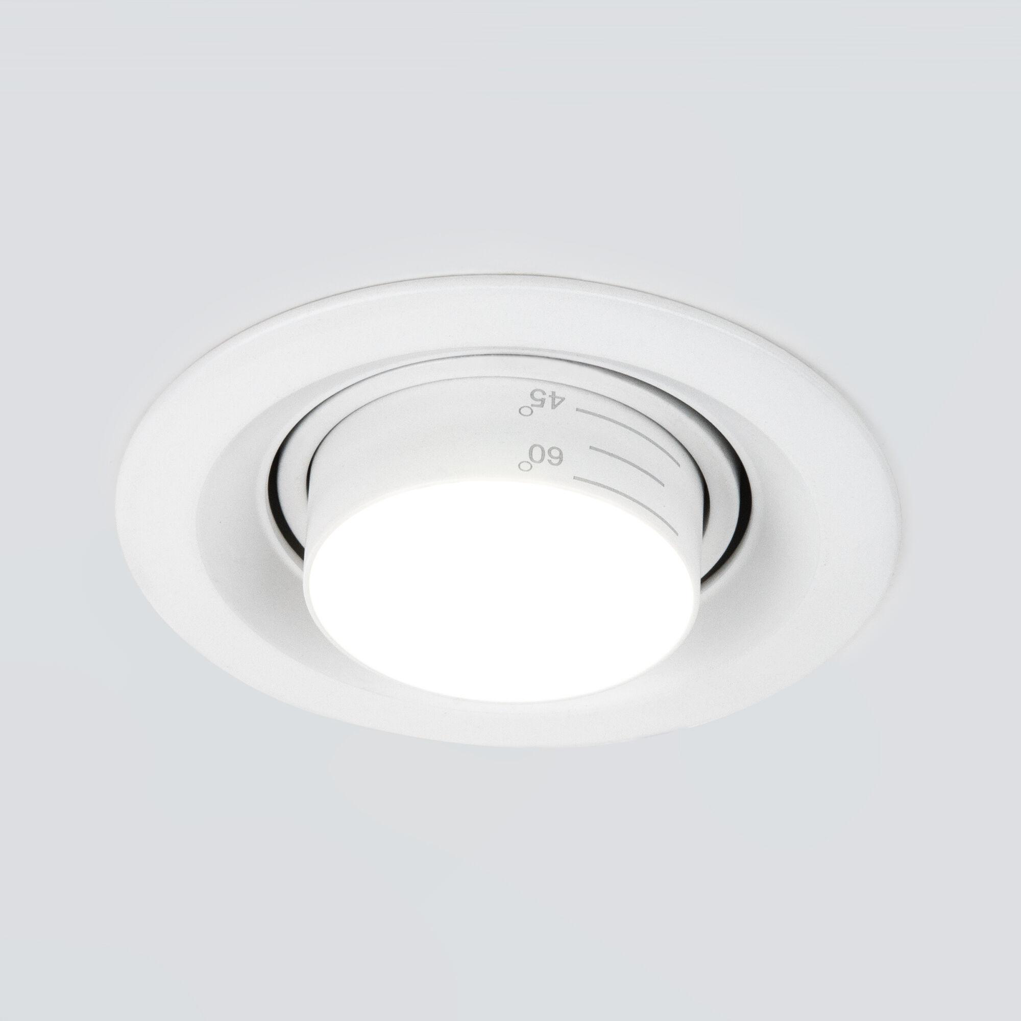 Встраиваемый светодиодный светильник с регулировкой угла освещения 9919 LED 10W 4200K белый