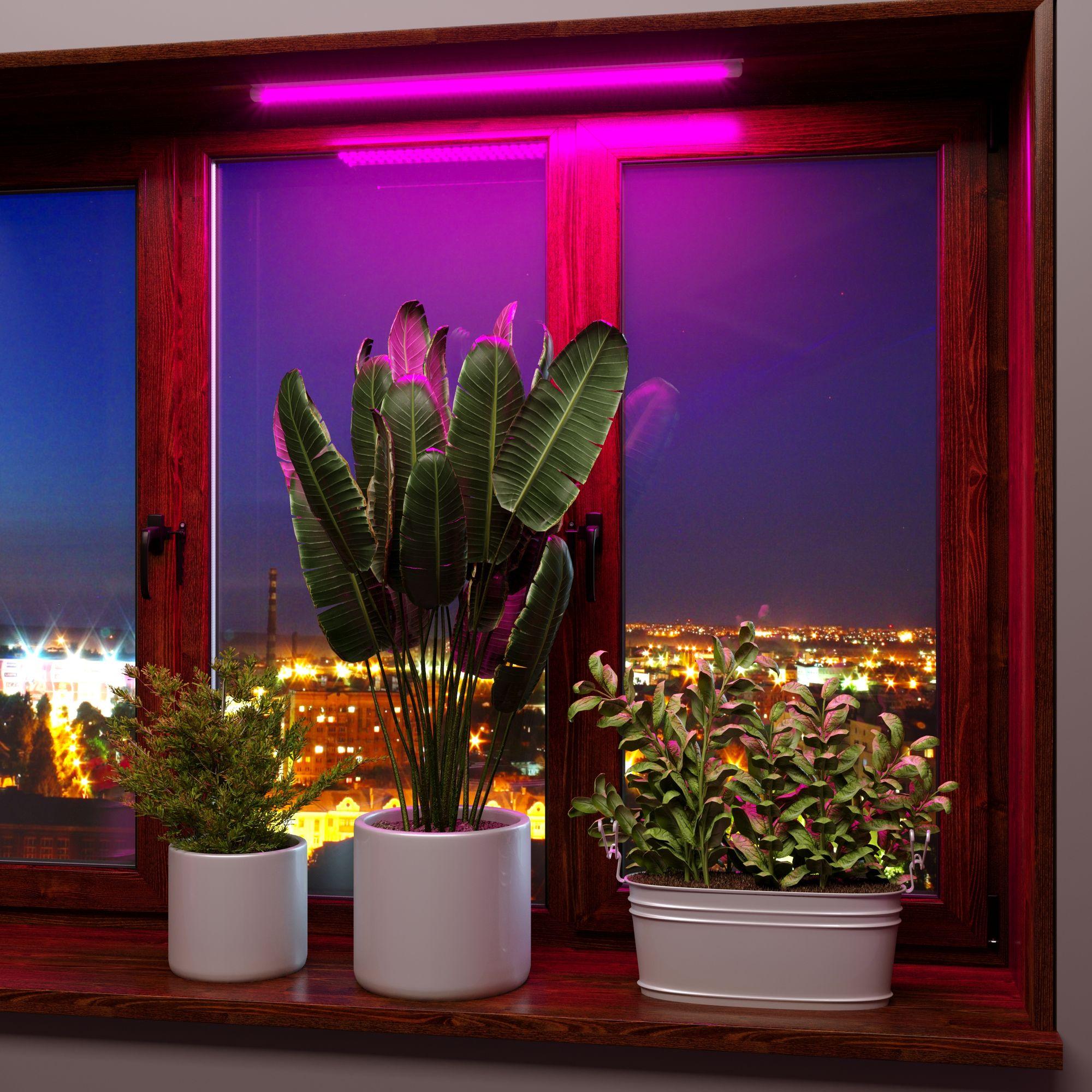 Линейный светодиодный светильник для растений 60см FT-001 белый