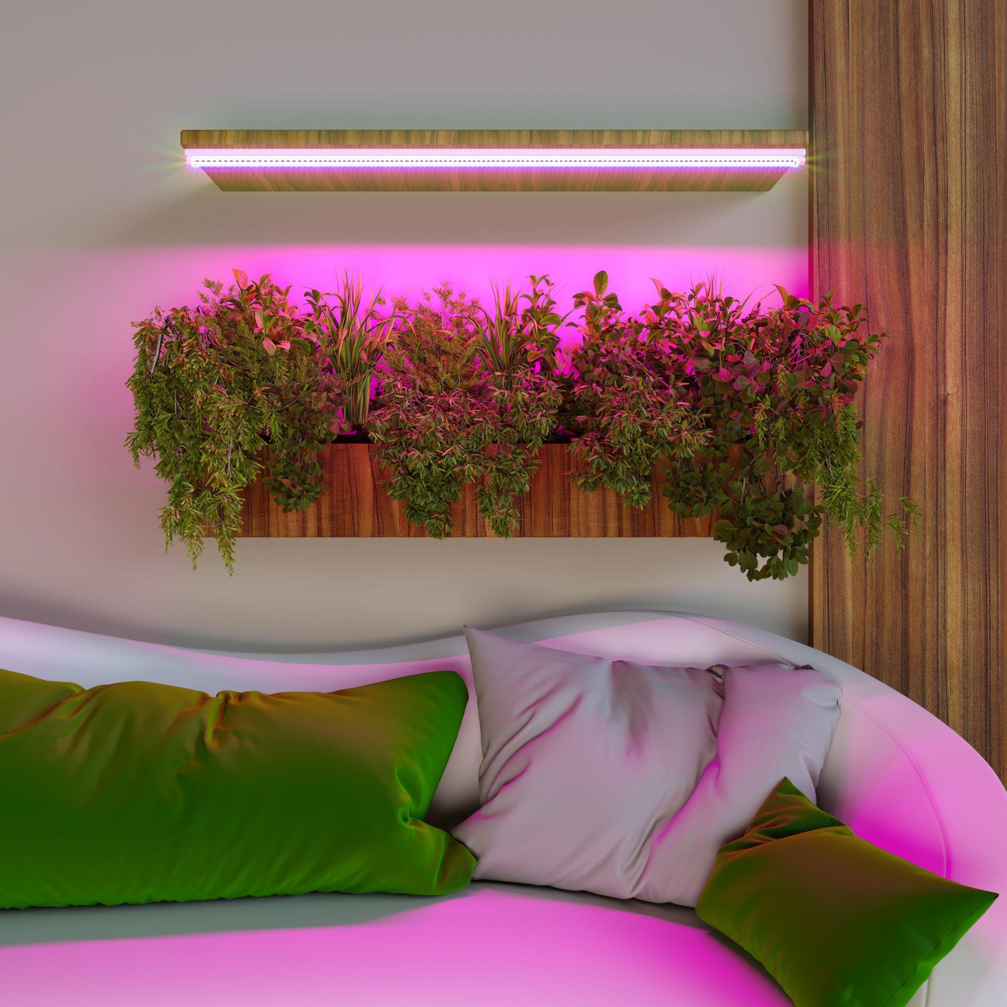 Линейный светодиодный светильник для растений 120 см FT-003 белый