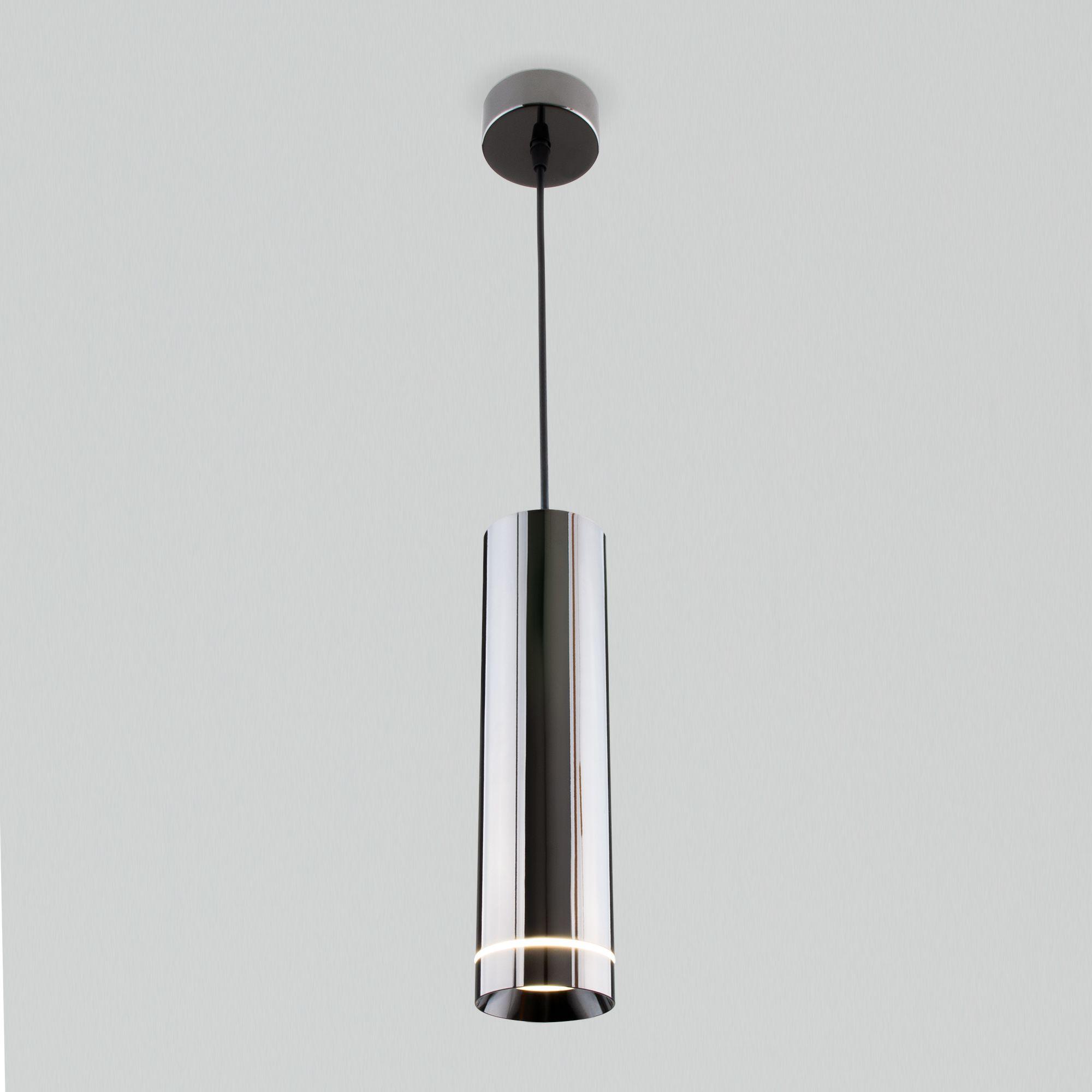 Подвесной светодиодный светильник DLR023 12W 4200K Черный жемчуг