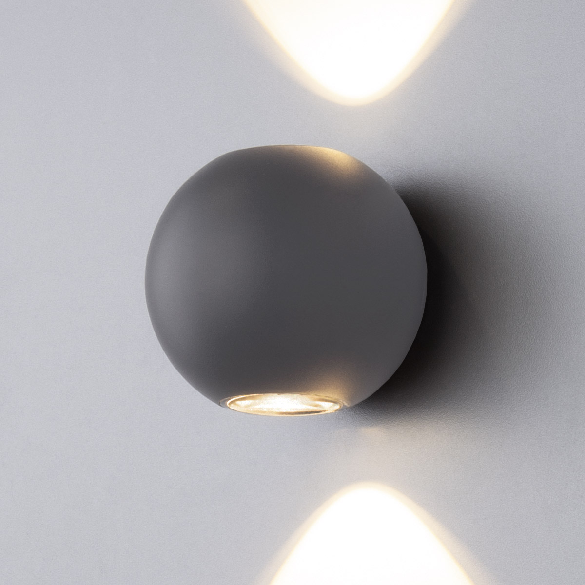 Diver серый уличный настенный светодиодный светильник 1566 TECHNO LED