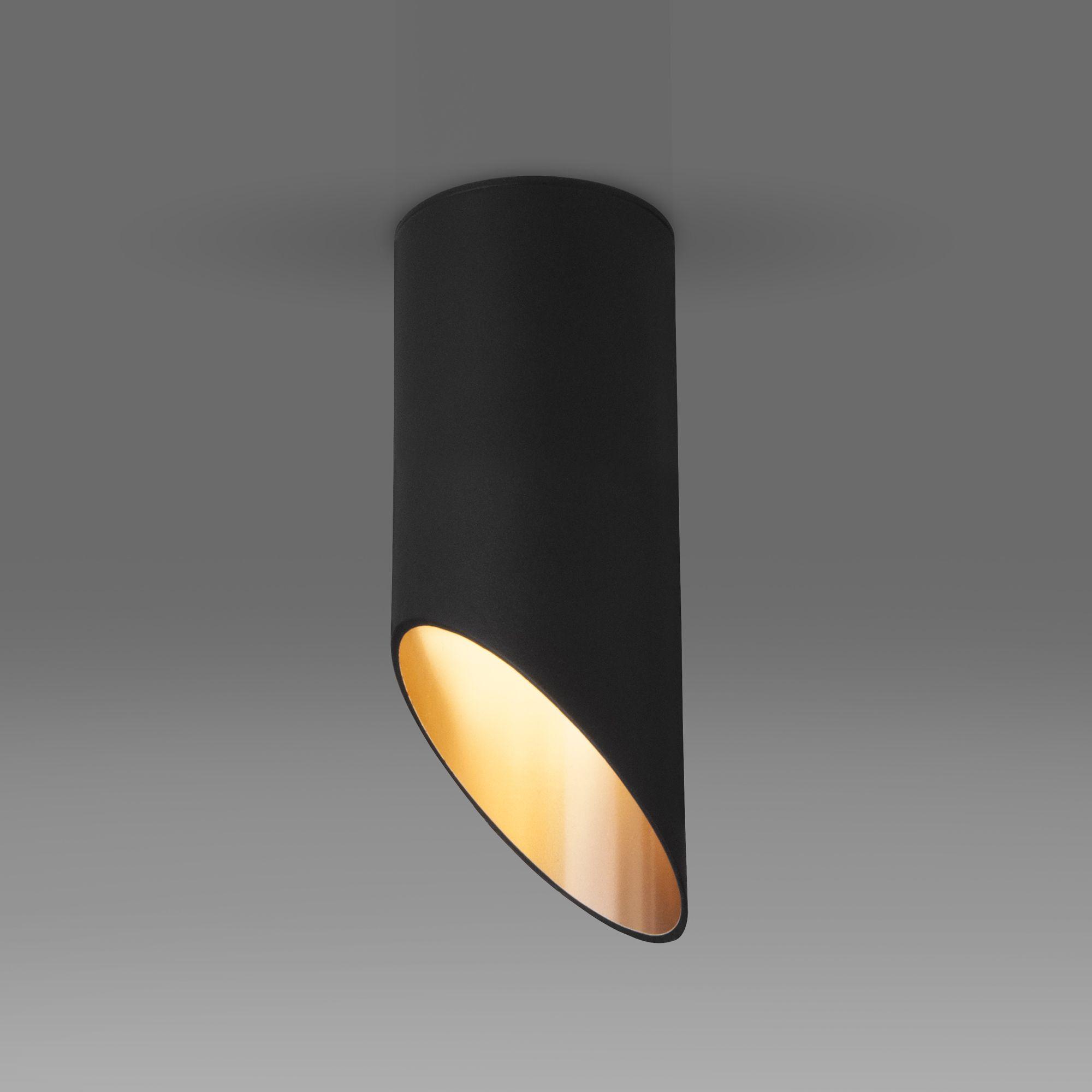 Накладной акцентный светильник DLN114 GU10 черный/золото