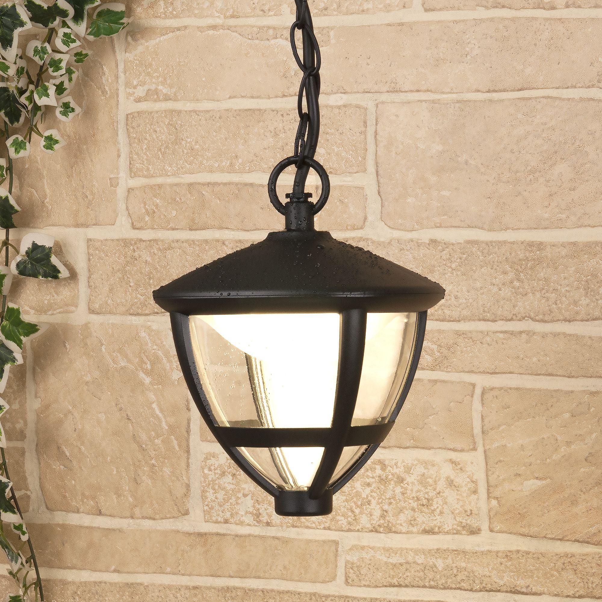 Gala H черный уличный светодиодный подвесной светильник IP44 GL LED 3001H