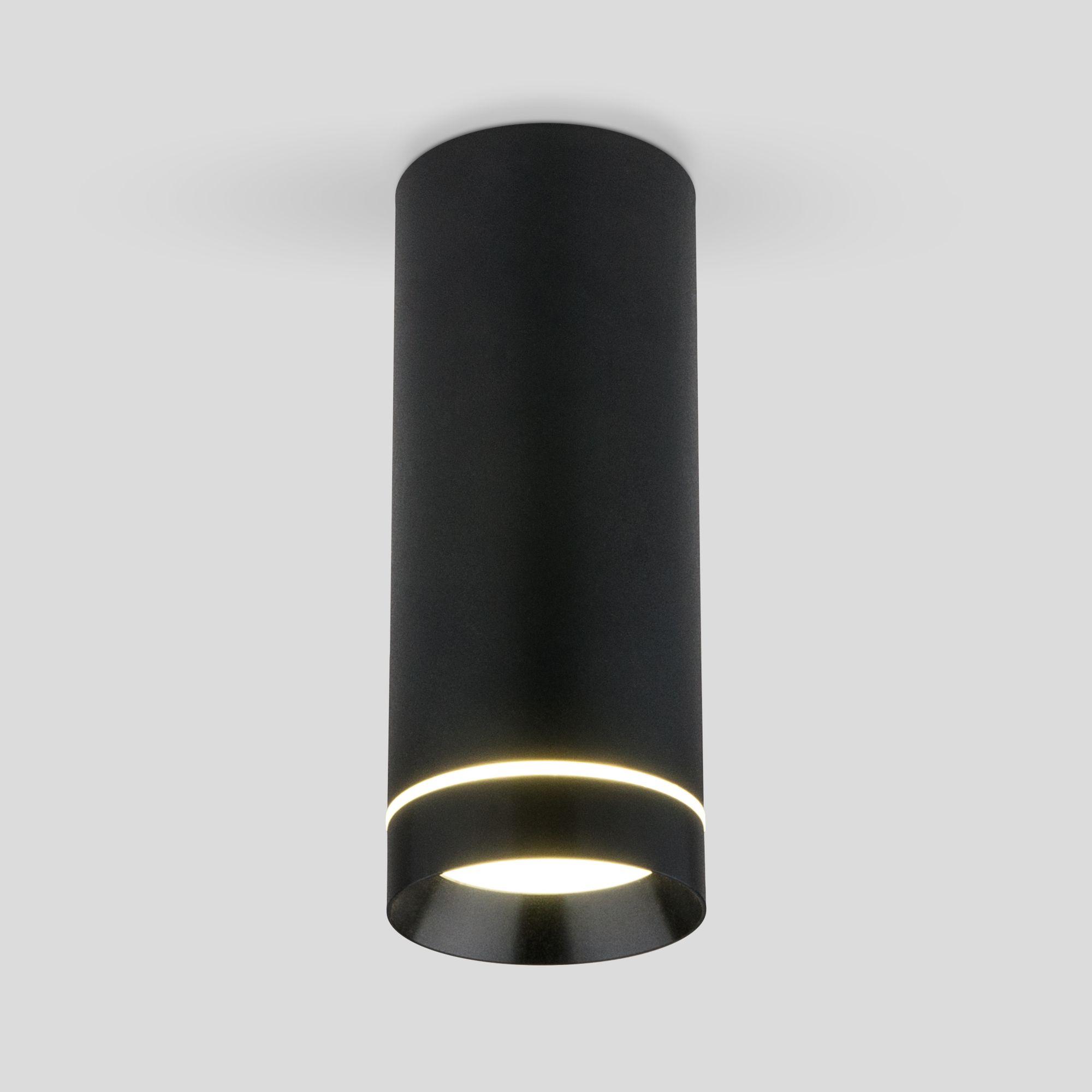 Накладной акцентный светодиодный светильник DLR022 12W 4200K черный матовый