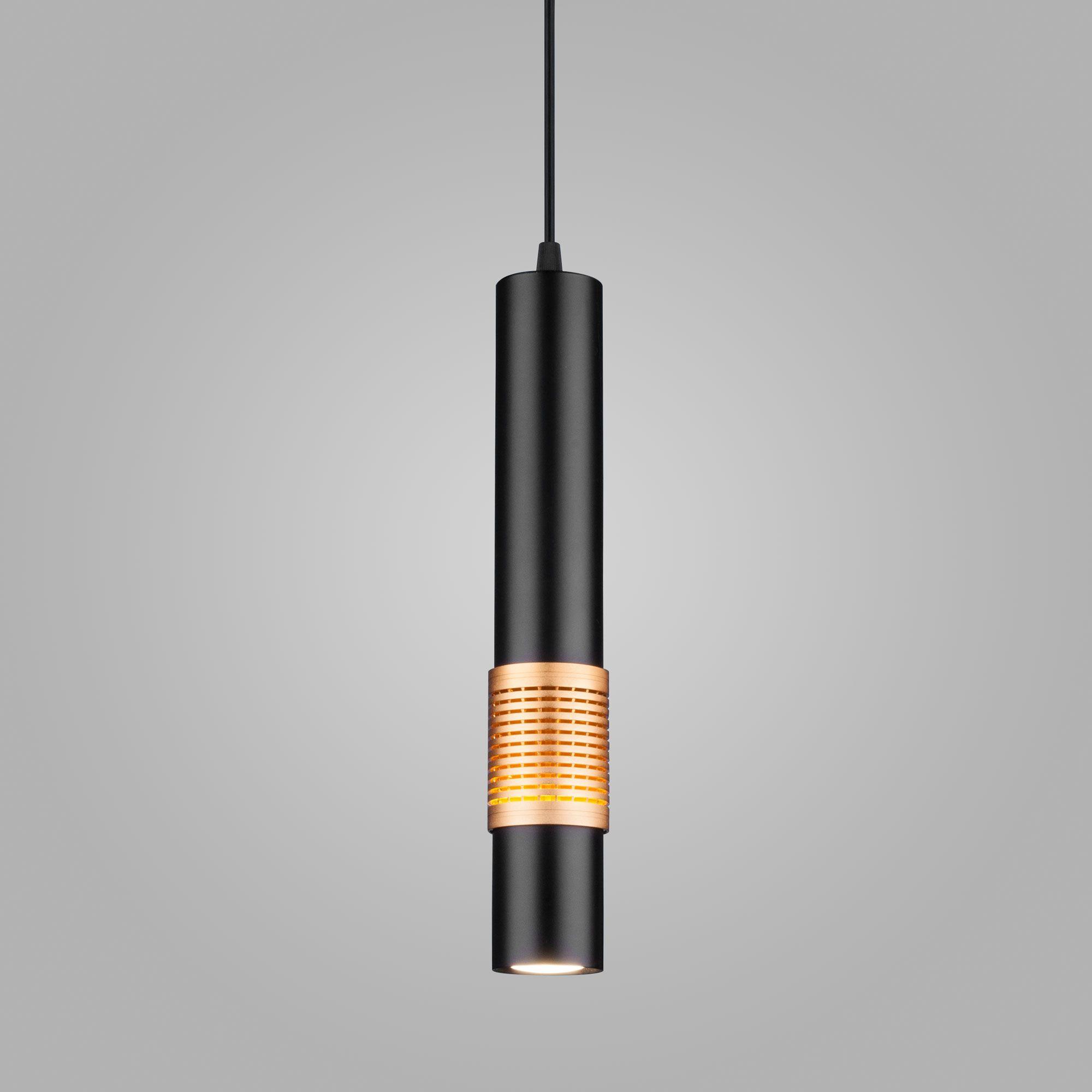 Подвесной светодиодный  светильник DLN001 MR16 черный матовый/золото