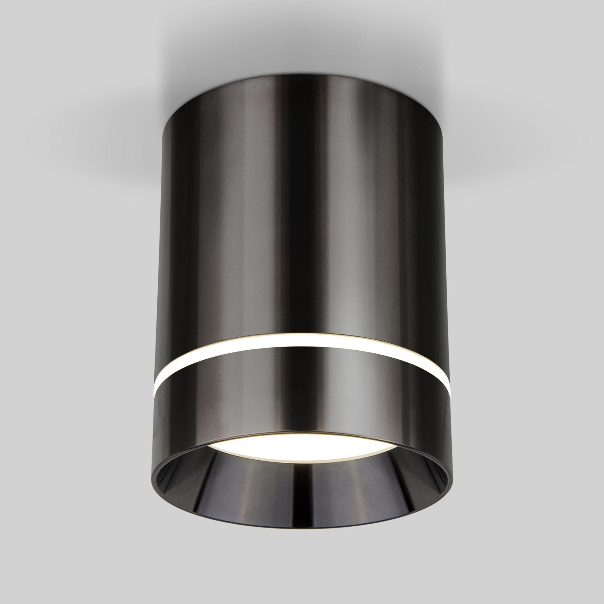 Накладной светодиодный светильник DLR021 9W 4200K Черный жемчуг