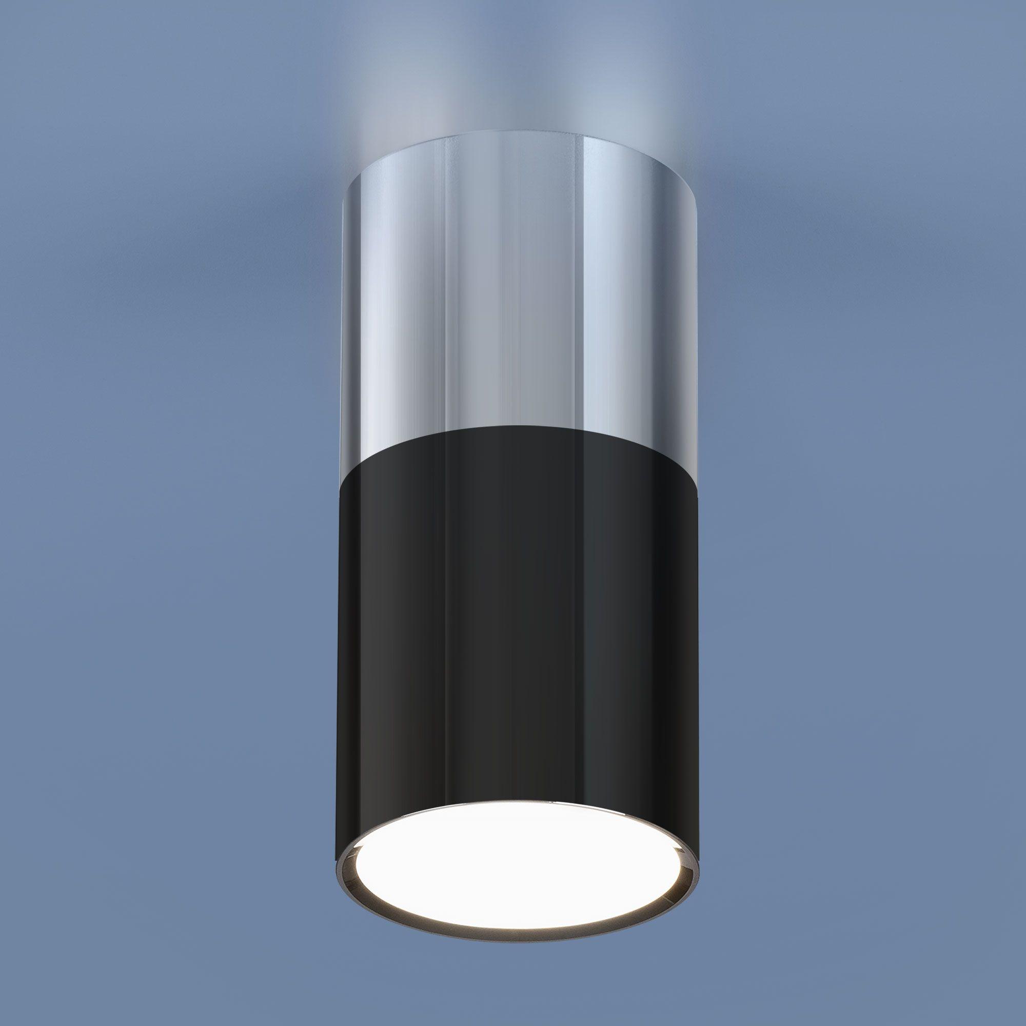 Накладной акцентный светодиодный светильник DLR028 6W 4200K хром/черный хром