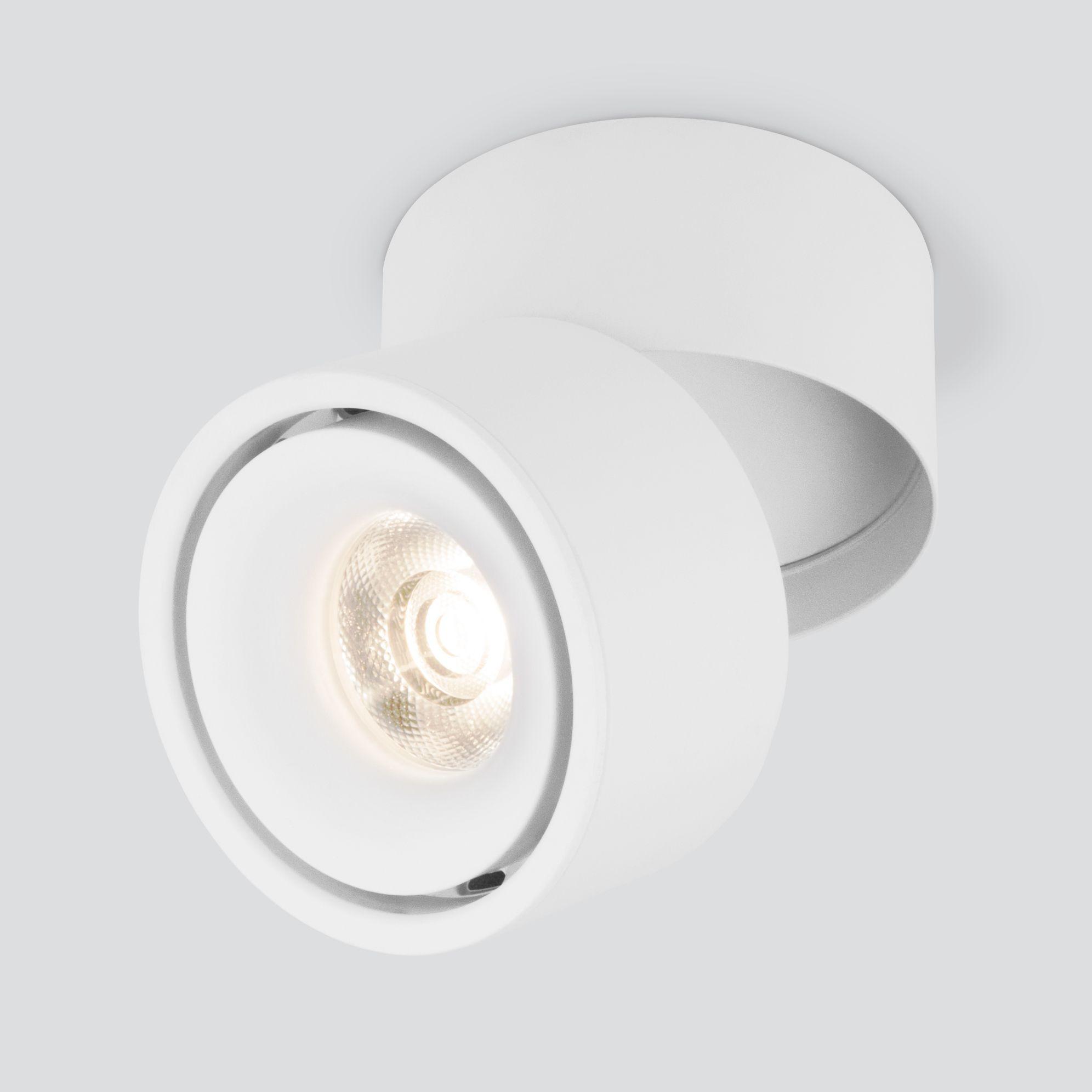 Накладной светодиодный светильник DLR031 15W 4200K 3100 белый матовый