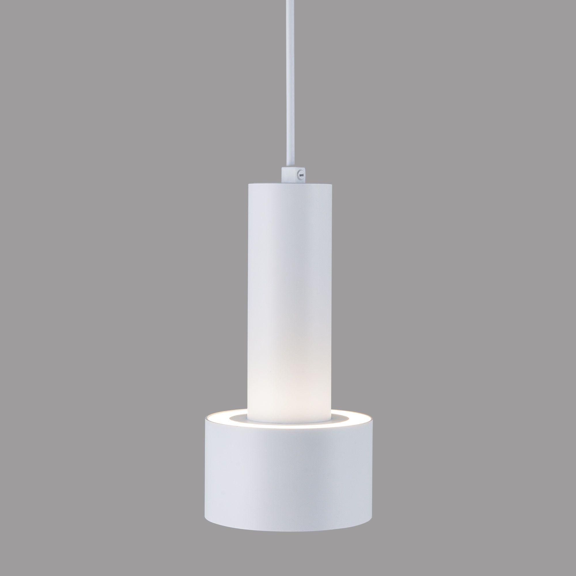 Подвесной светодиодный светильник DLR033 9W 4200K 3300 белый/хром