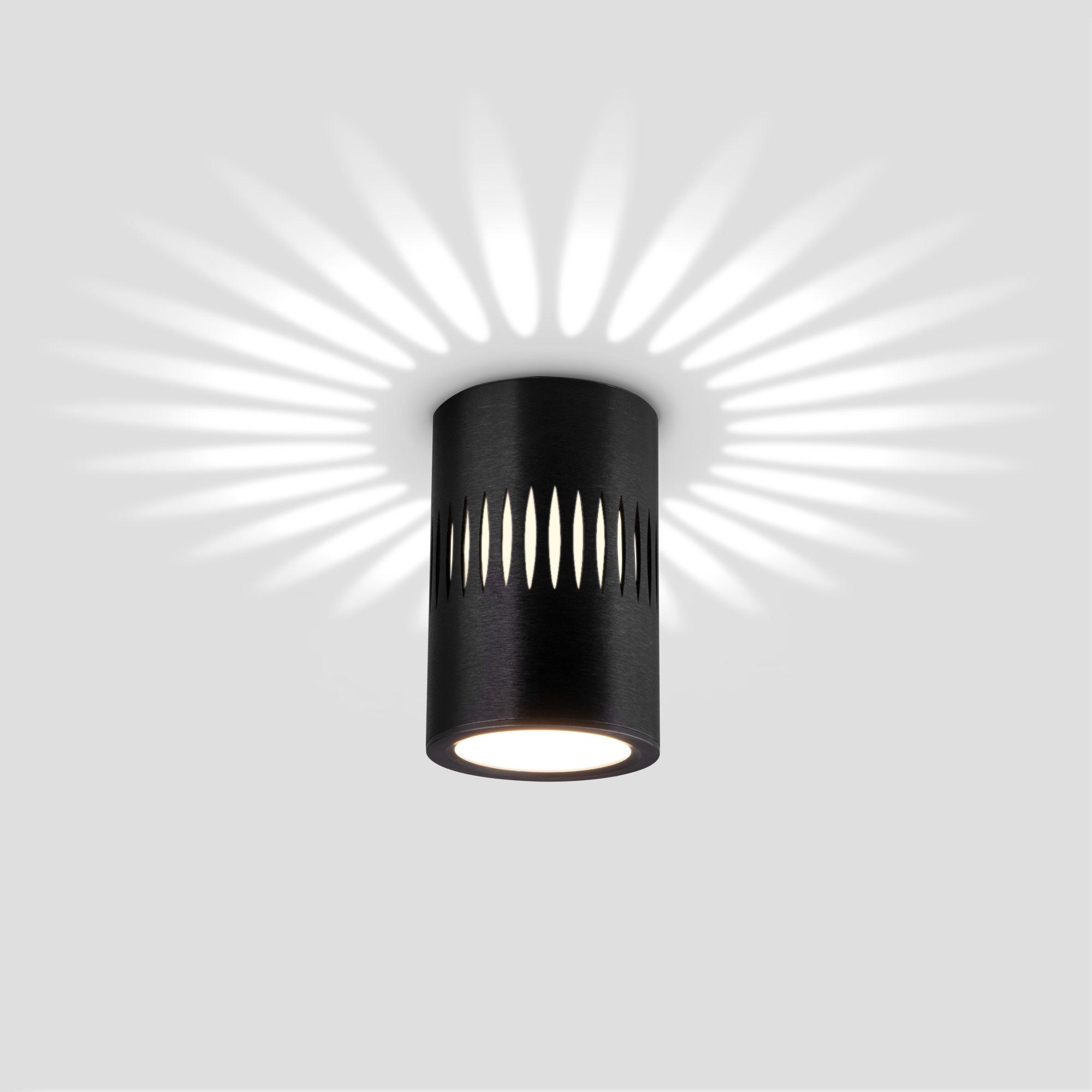 Накладной светодиодный светильник с подсветкой черный DLS026