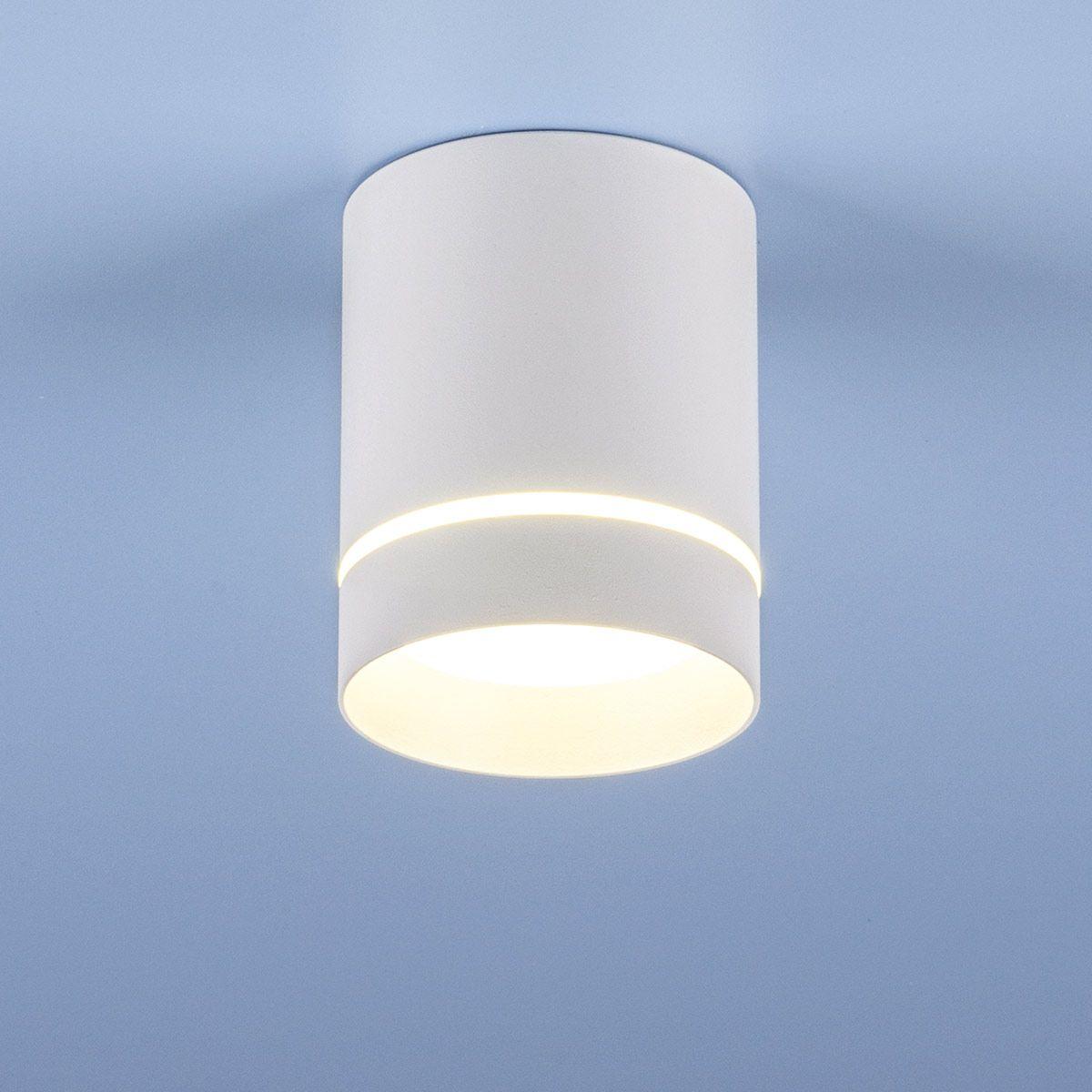 Накладной акцентный светодиодный светильник DLR021 9W 4200K белый матовый