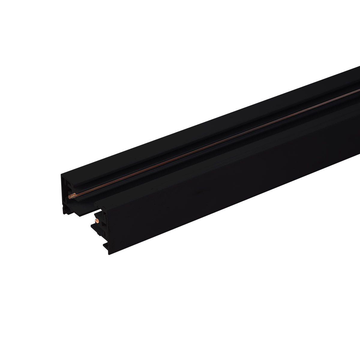 Однофазный шинопровод 1 метр черный (с вводом питания и заглушкой) TRL-1-1-100-BK
