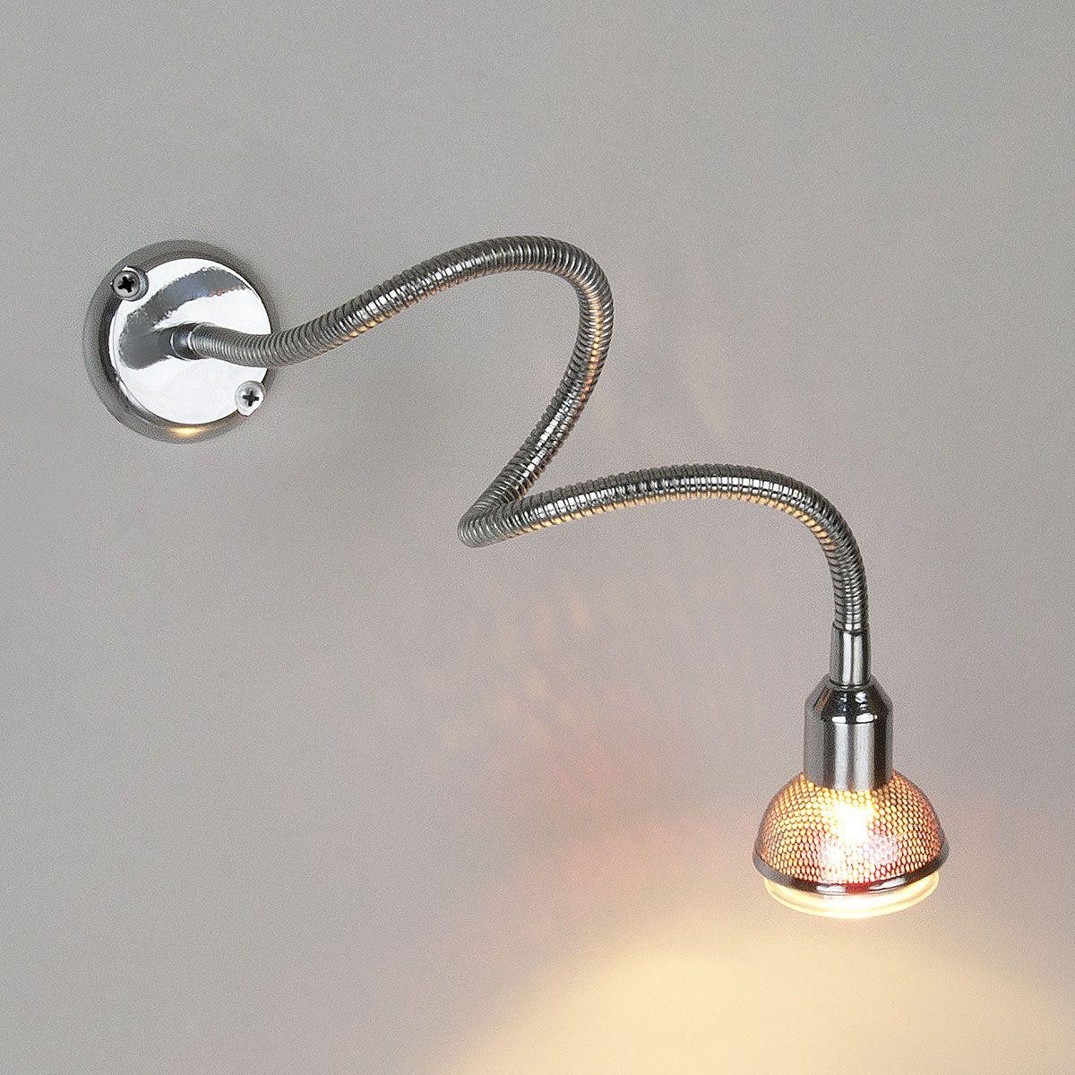Настенный светильник с гибким корпусом 1214 MR16 хром