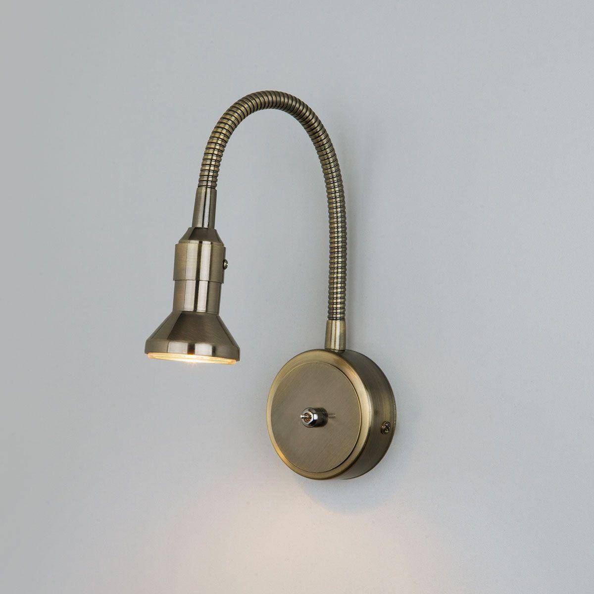 Настенный светильник с гибким корпусом Plica 1215 MR16 бронза / золото
