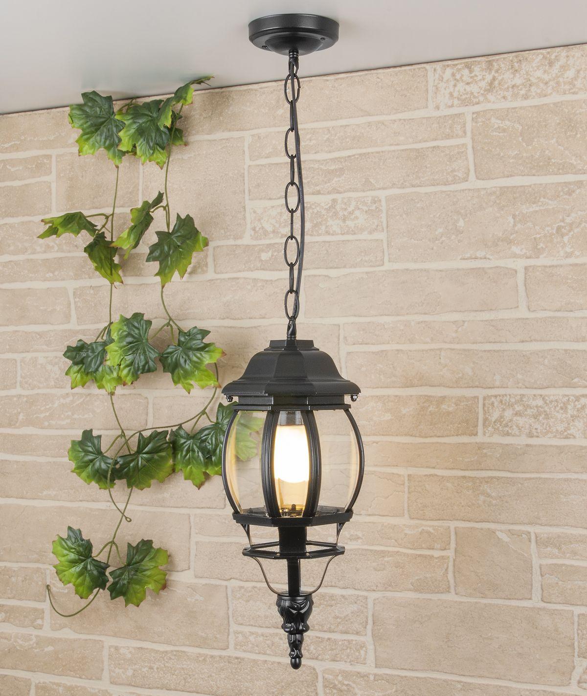 Уличный подвесной светильник IP33 GL 1001H черный