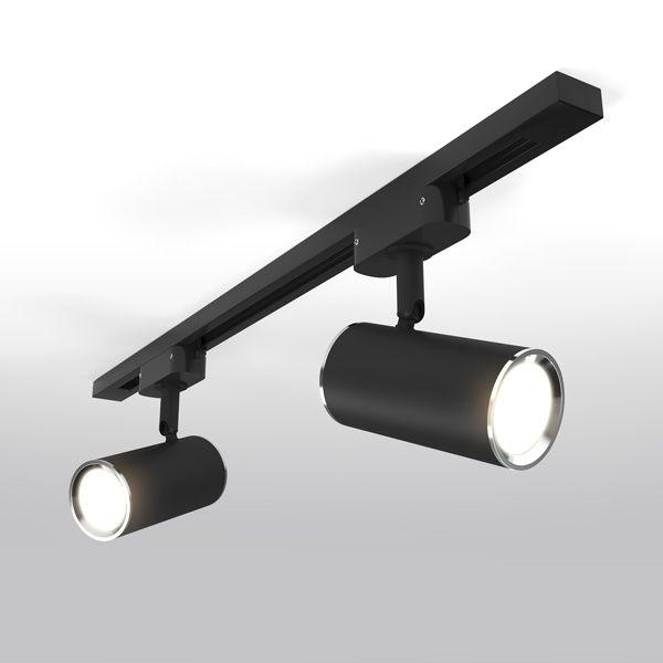 Трековый светильник для однофазного шинопровода Rutero GU10 Черный MRL 1002