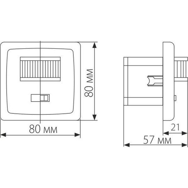 Инфракрасный датчик движения 1200W IP20 160 Белый SNS-M-01