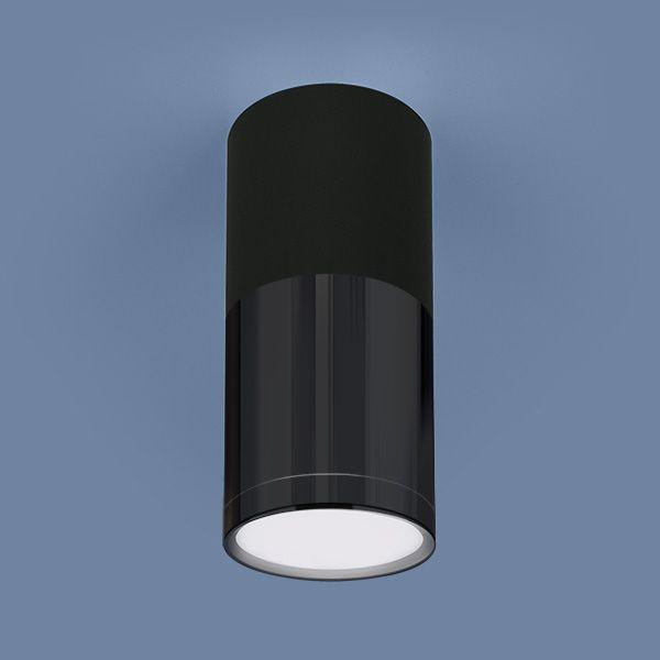 Накладной потолочный  светодиодный светильник DLR028 6W 4200K черный матовый/черный хром