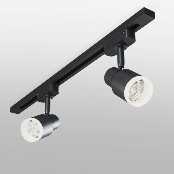 Трековый светодиодный светильник для однофазного шинопровода Molly Черный 7W 4200K LTB31