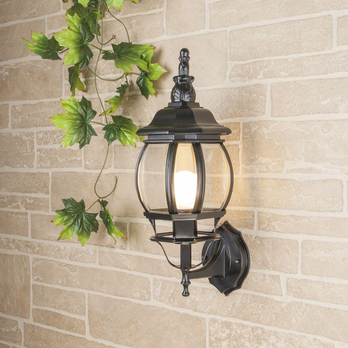 Уличный настенный светильник GL 1001U черное золото