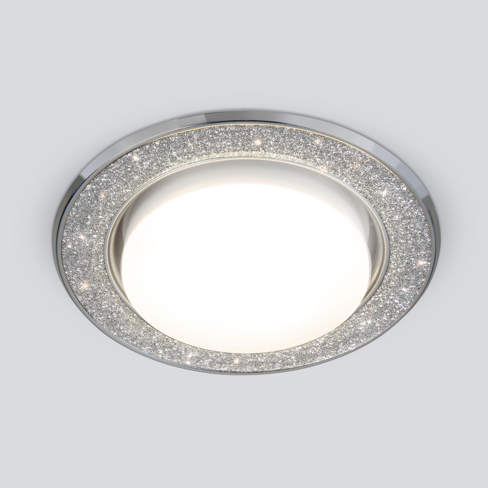 Точечный светильник 1072 GX53 SL/СН серебряный блеск/хром