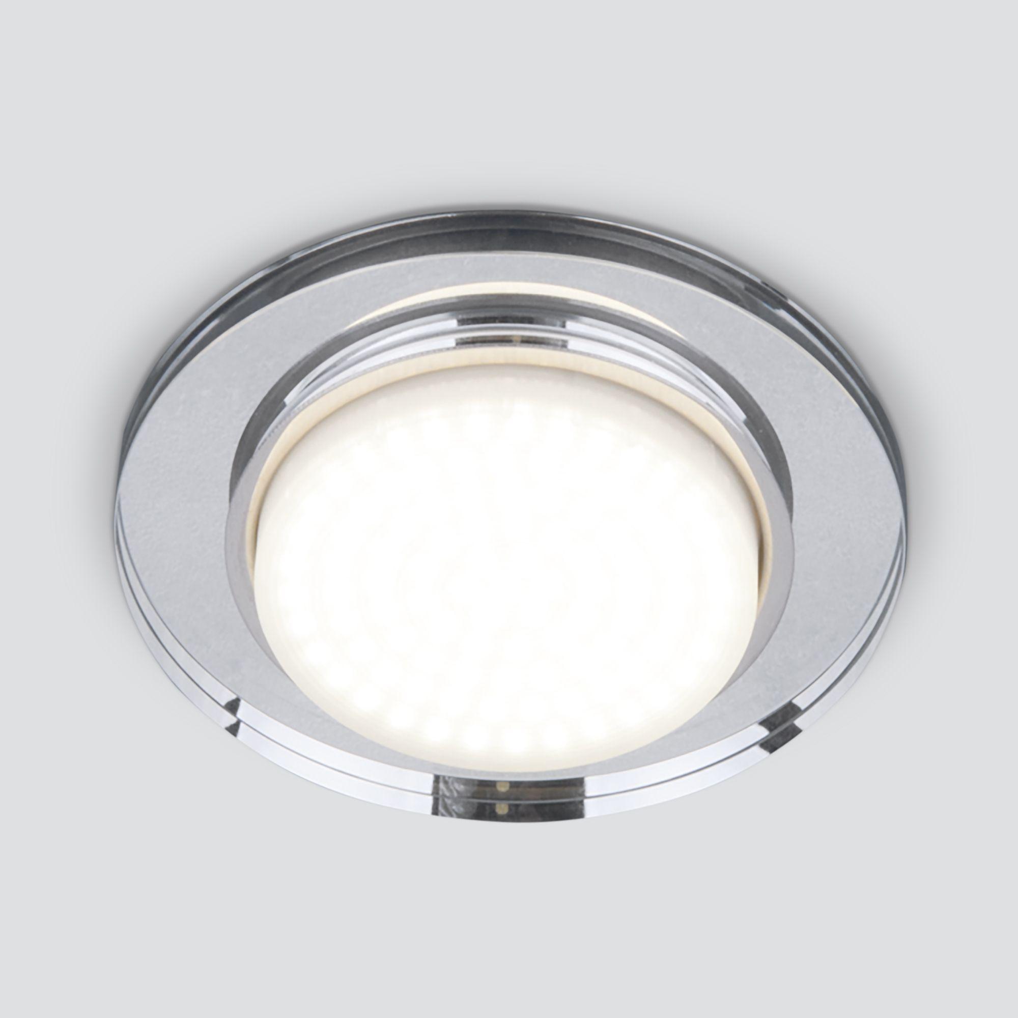 Точечный светильник 8061 GX53 SL  зеркальный/серебро