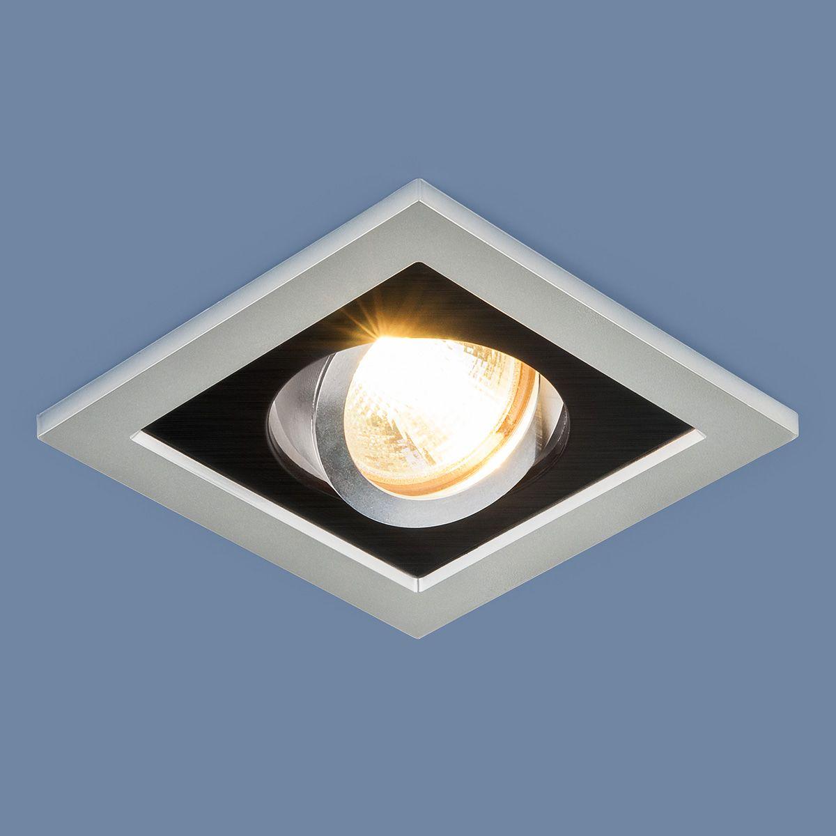 Точечный светильник с поворотным механизмом 1031/1 MR16 SL/BK серебро/черный