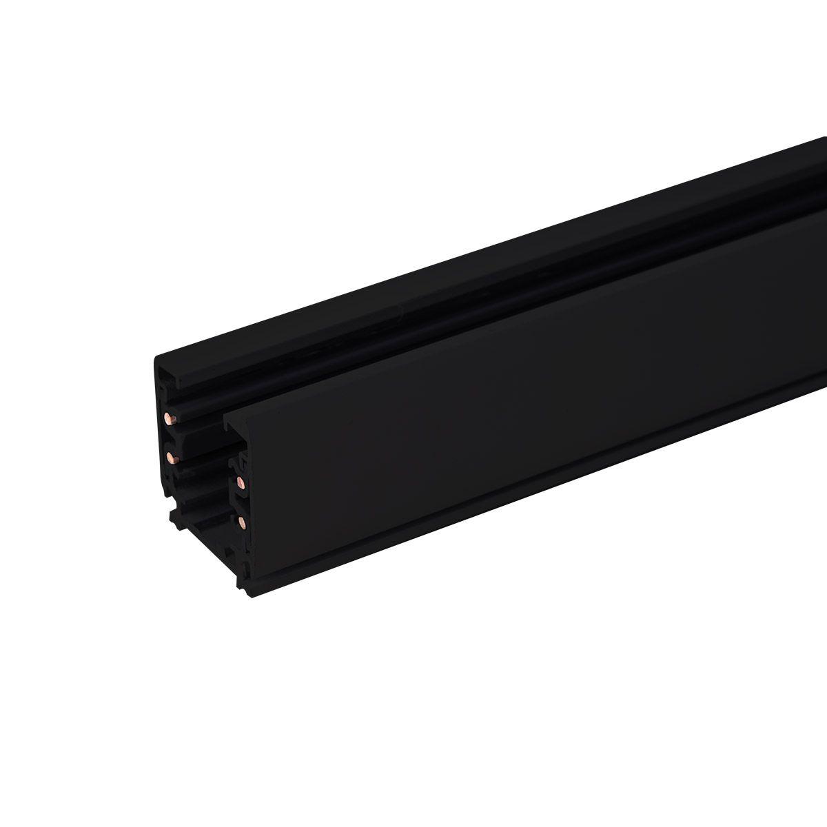 Трехфазный шинопровод (с вводом питания и заглушкой) TRL-1-3-200-BK 2 метра черный