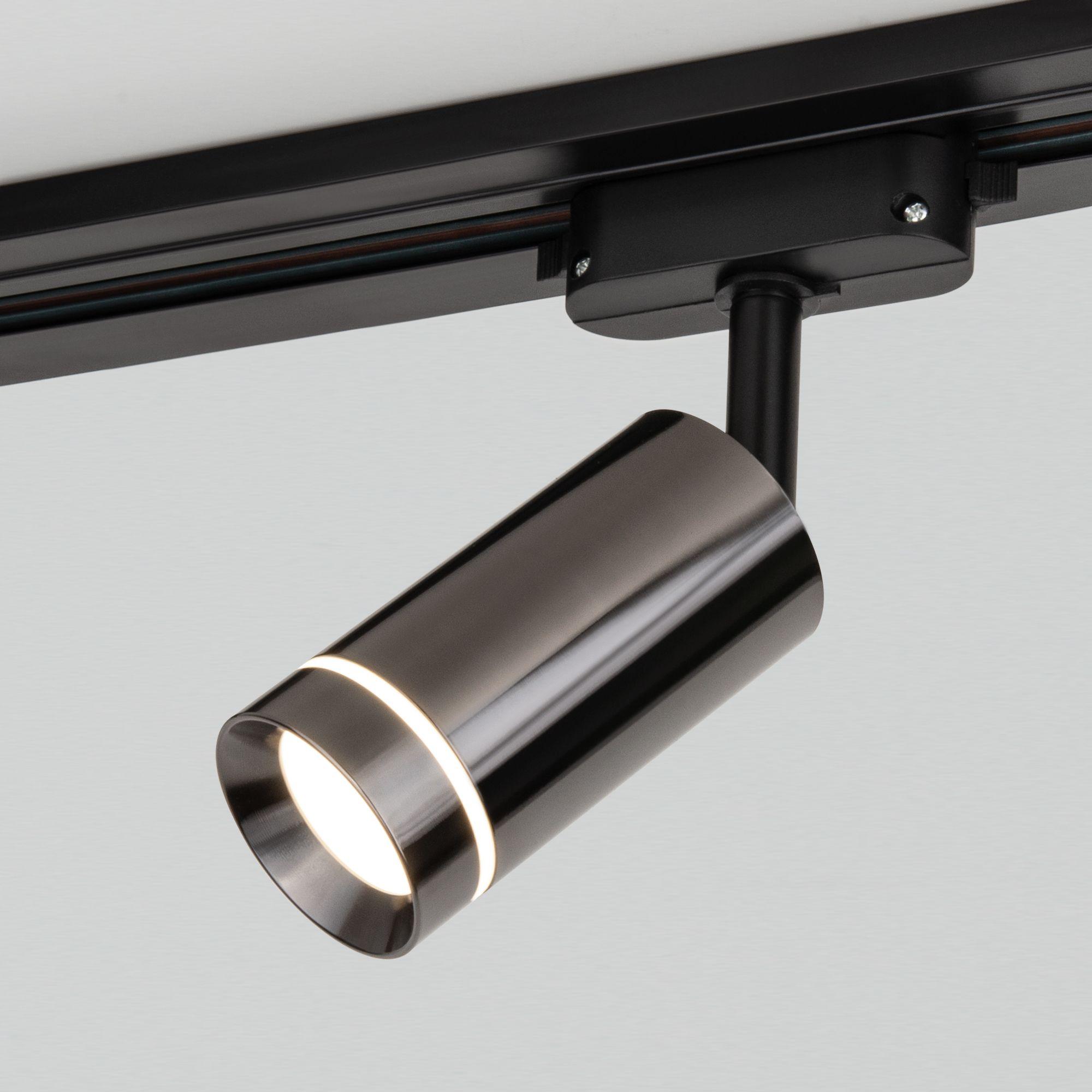 Трековый светодиодный светильник для однофазного шинопровода Glory Черный жемчуг 7W 4200K Glory Черн