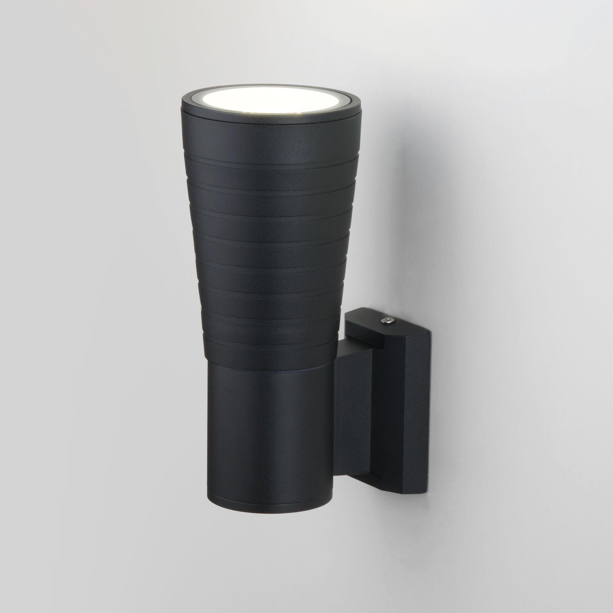 Настенный  уличный  светодиодный светильник TUBE UNO черный 1503 TECHNO LED черный