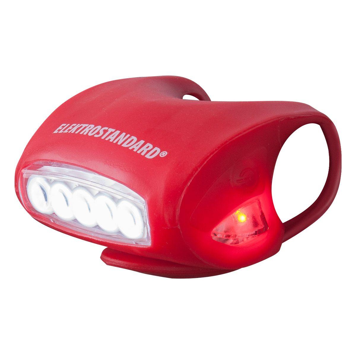 Силиконовый фонарик на велосипед Forward красный