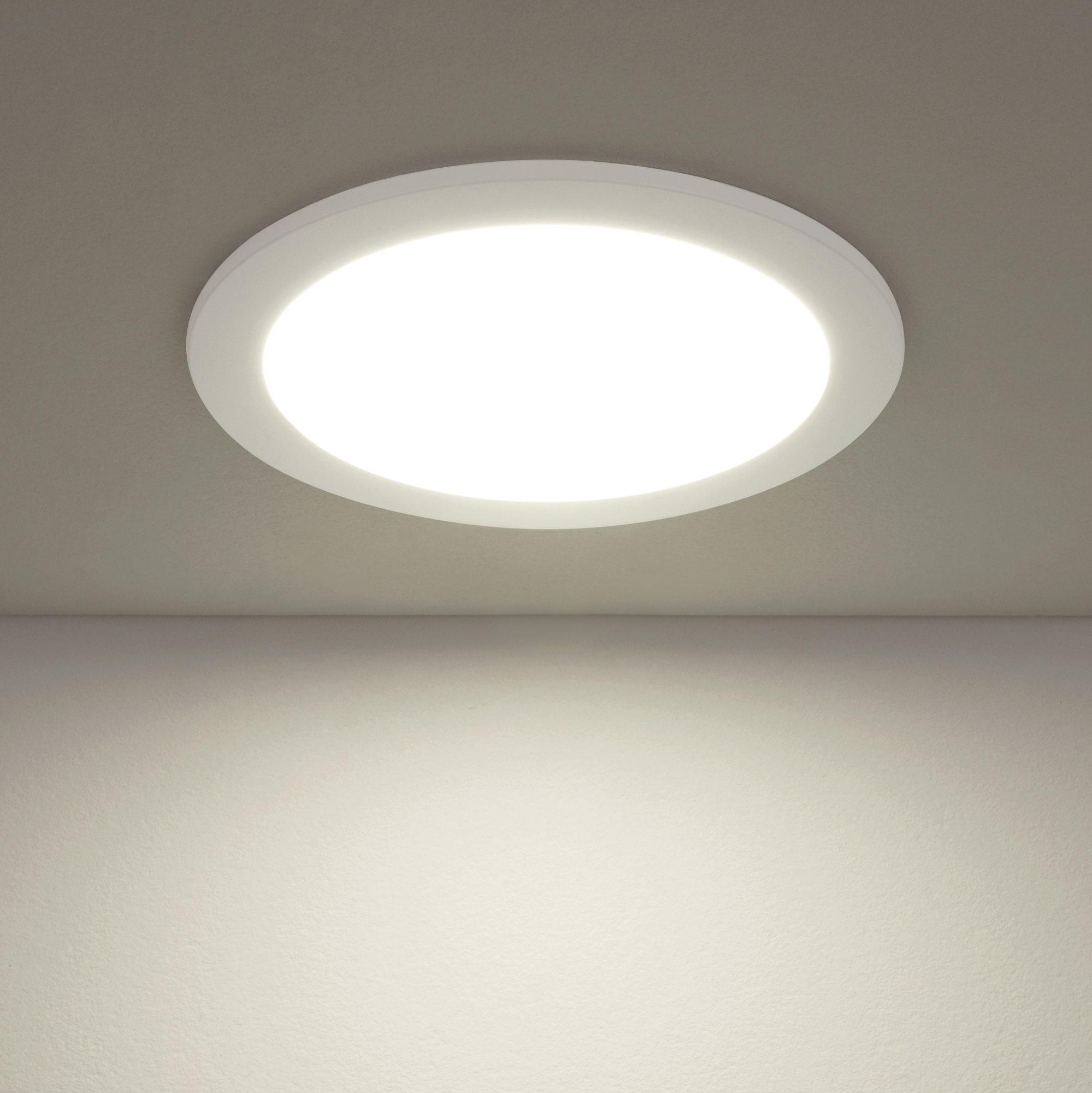 Встраиваемый светодиодный светильник DLR003 18W 4200K