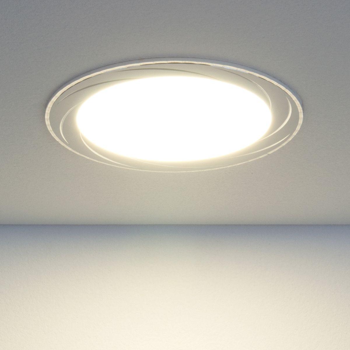 Встраиваемый светодиодный светильник DLR004 12W 4200K WH белый