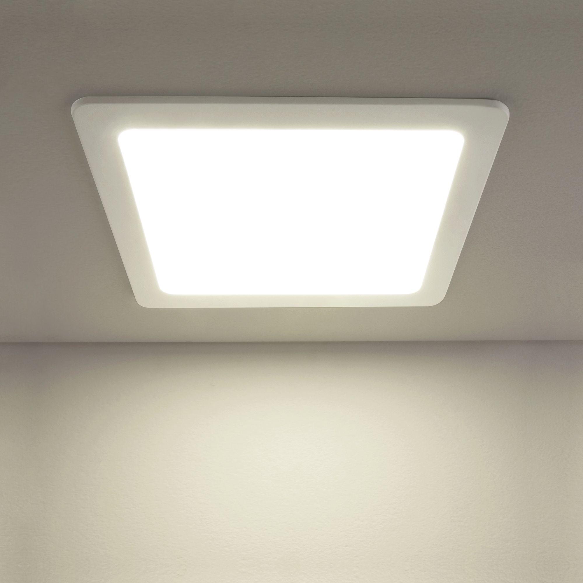 Встраиваемый светодиодный светильник DLS003 24W 4200K