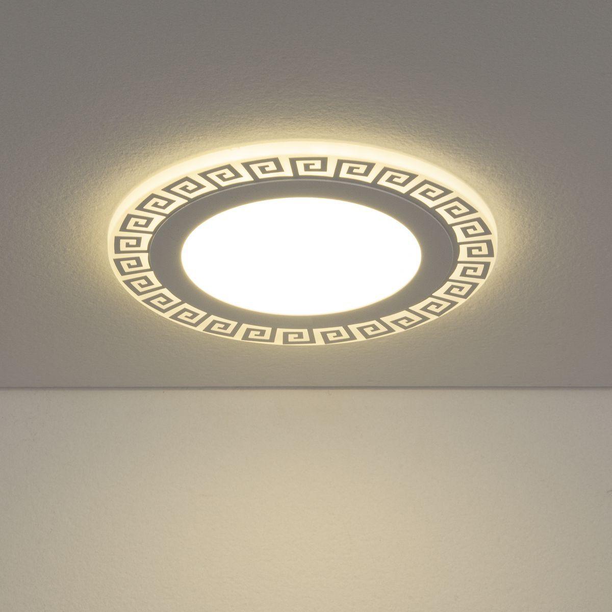 Встраиваемый потолочный светодиодный светильник DSS002 12+6W 4200K