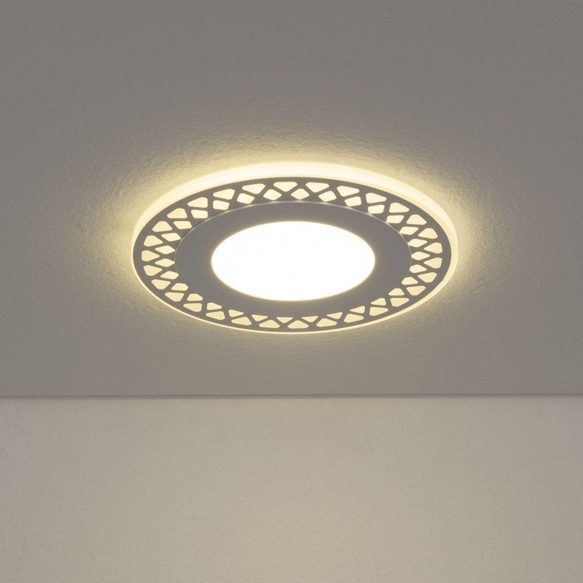 Встраиваемый потолочный светодиодный светильник DSS003 7+3W 4200K