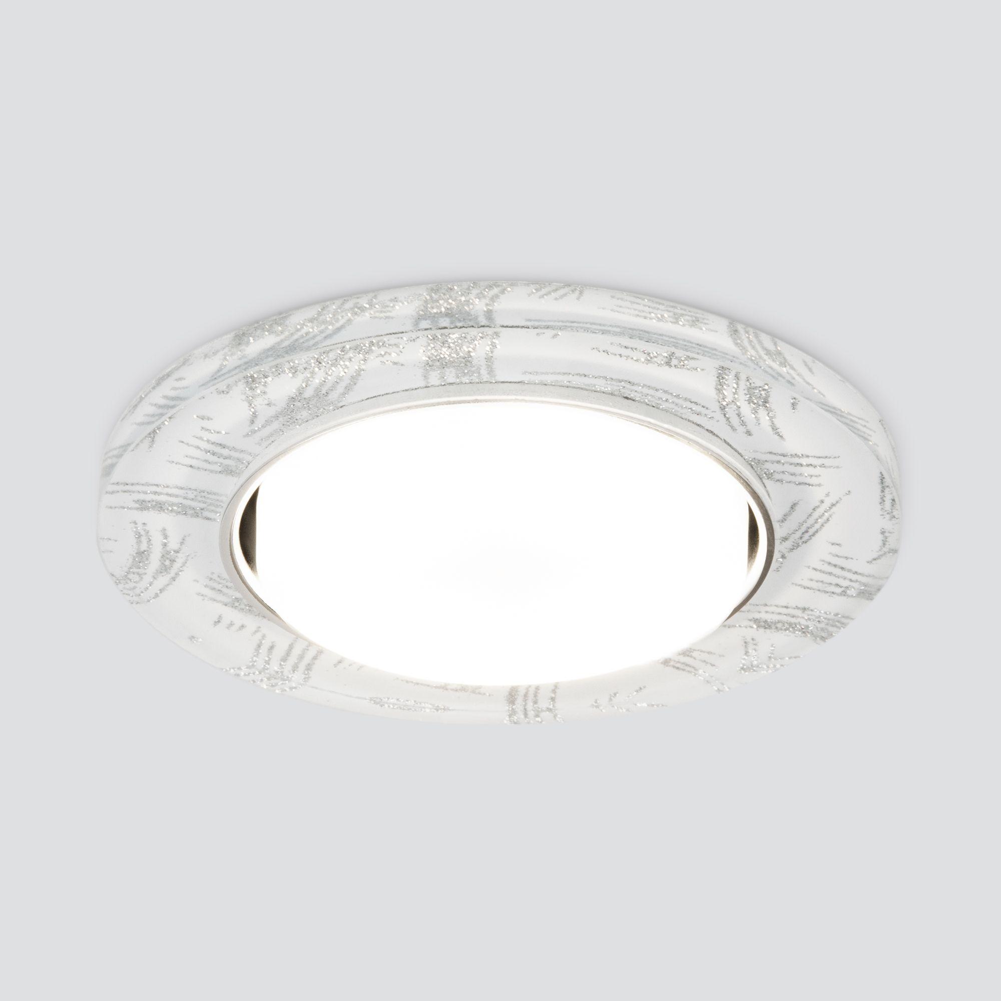Встраиваемый точечный светильник 1062 GX53 WH/SL белый/серебро